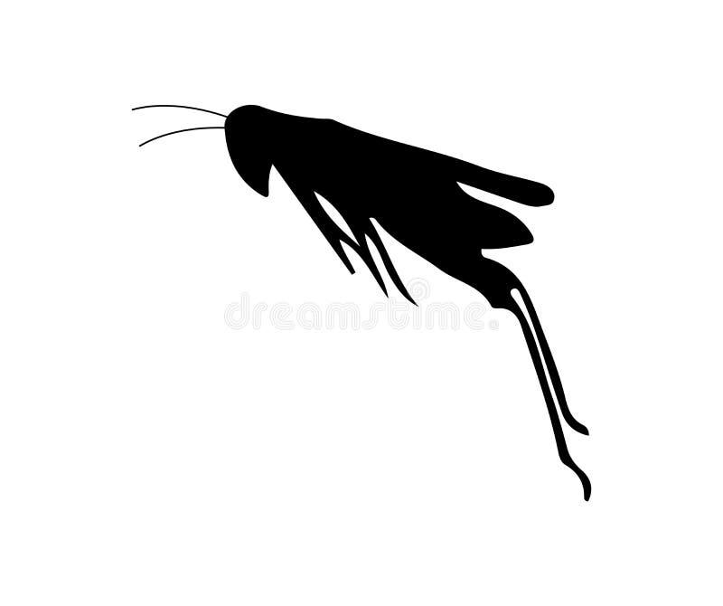 Ilustração do vetor de um salto do gafanhoto ilustração do vetor