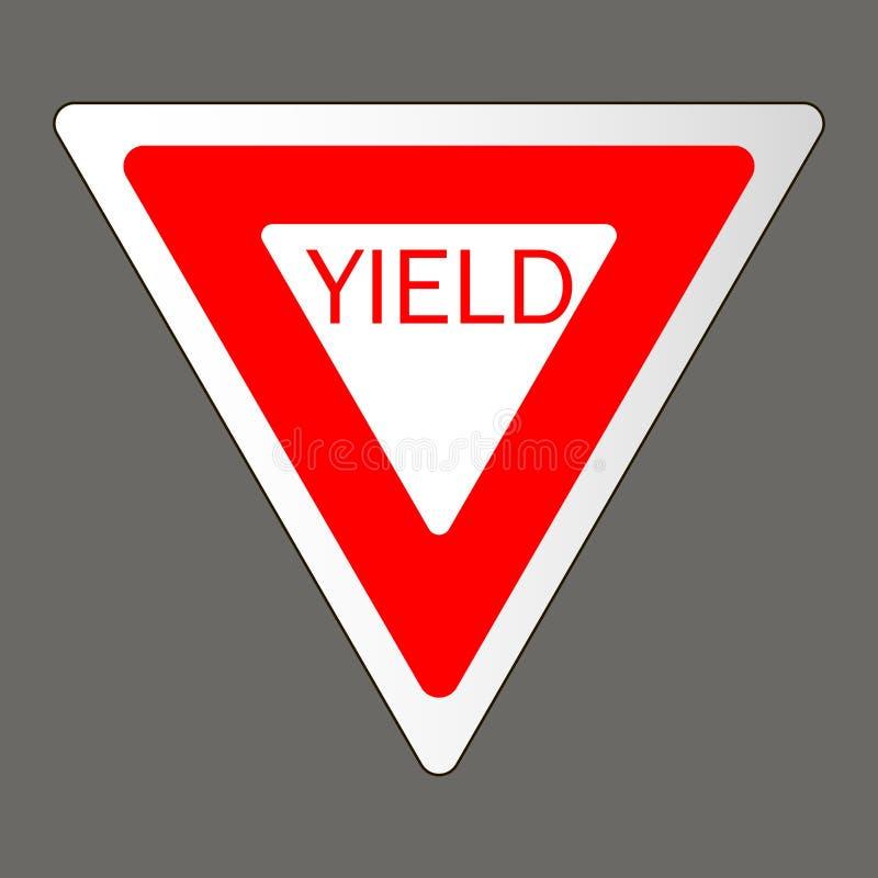Ilustração do vetor de um sinal de estrada do rendimento ilustração royalty free