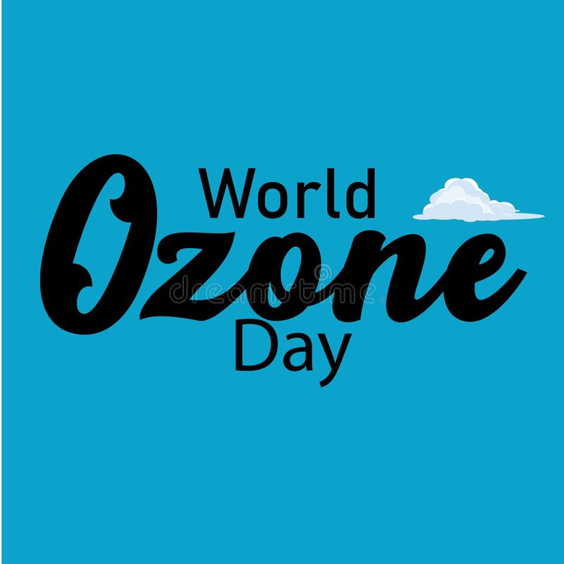 Ilustração do vetor de uma bandeira para o dia do ozônio do mundo - O arquivo do vetor ilustração stock