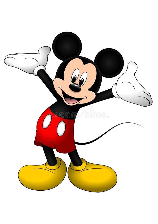 Ilustração do vetor Disney do Rato Mickey isolado em fundo branco ilustração stock