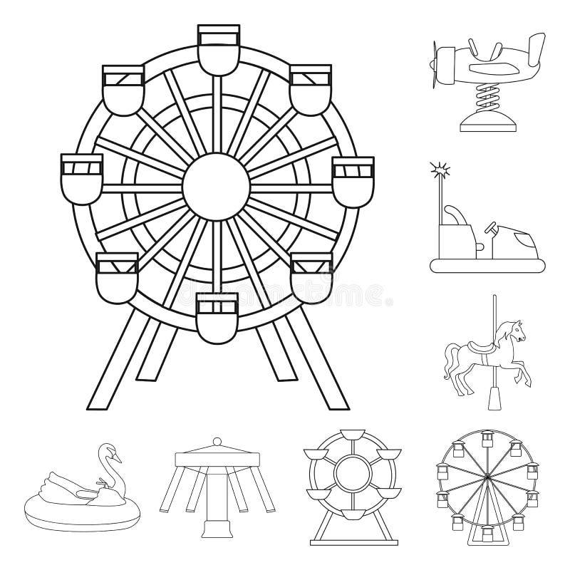 Ilustração do vetor do divertimento e do símbolo do cavalo Ajuste do divertimento e do símbolo de ações do circo para a Web ilustração stock