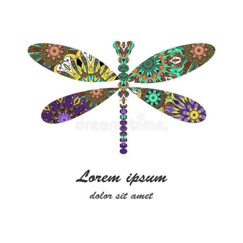 Ilustração do vetor do ícone da libélula ilustração do vetor