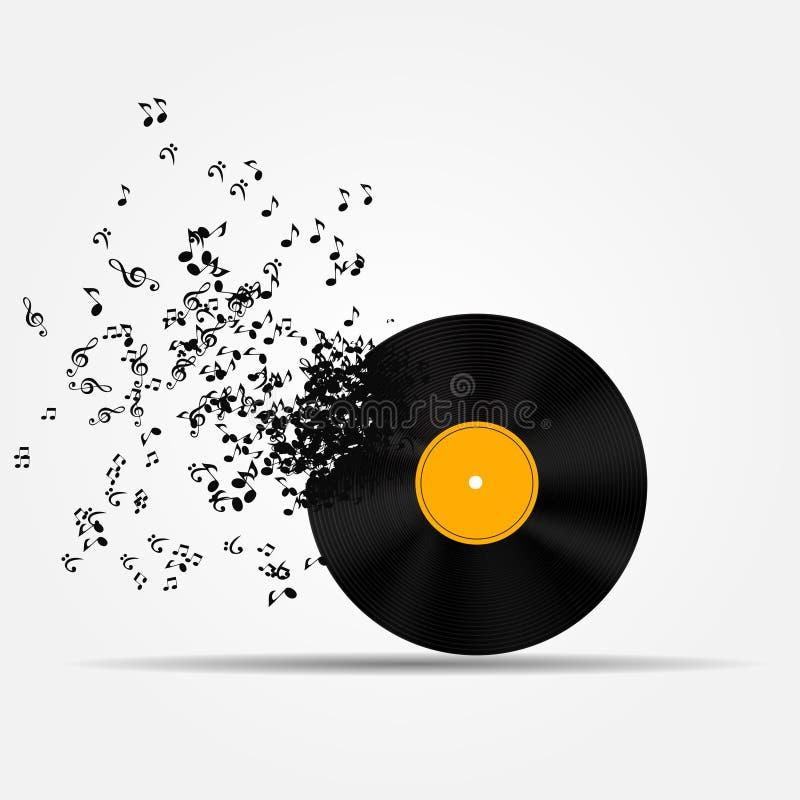 Ilustração do vetor do ícone da música ilustração do vetor