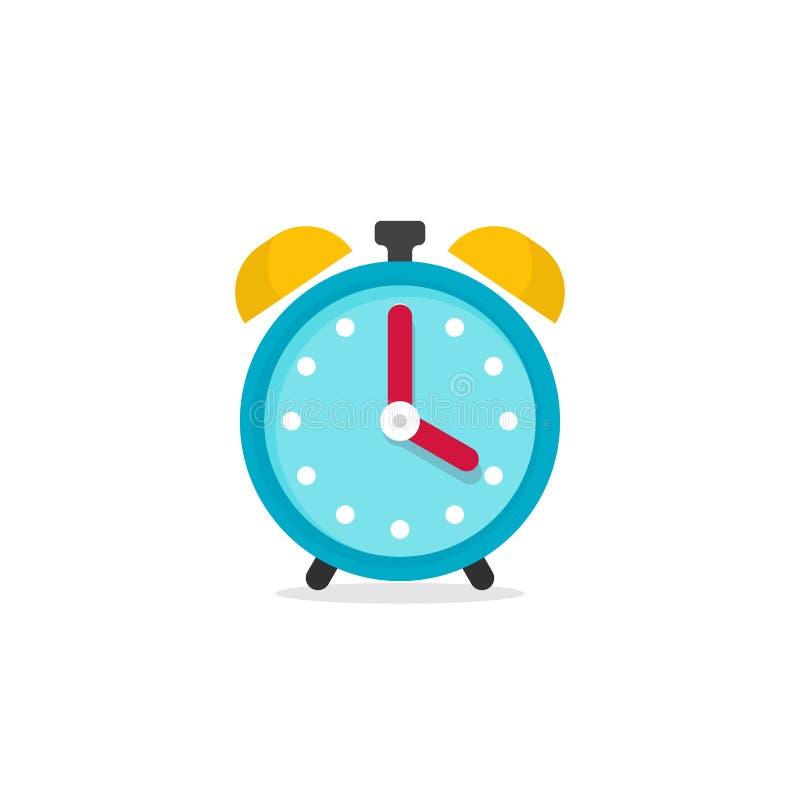 Ilustração do vetor do ícone do despertador no fundo branco ilustração do vetor