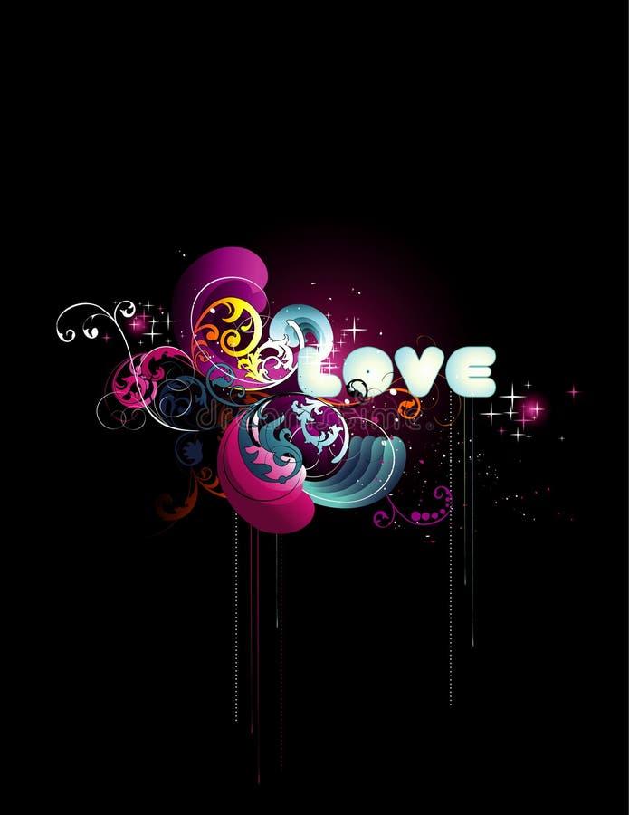 Ilustração do vetor do amor ilustração royalty free