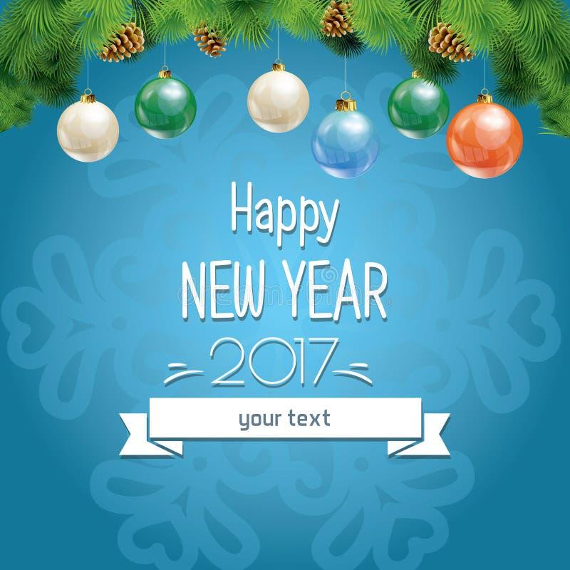 Ilustração do vetor do ano novo e do Natal ilustração royalty free