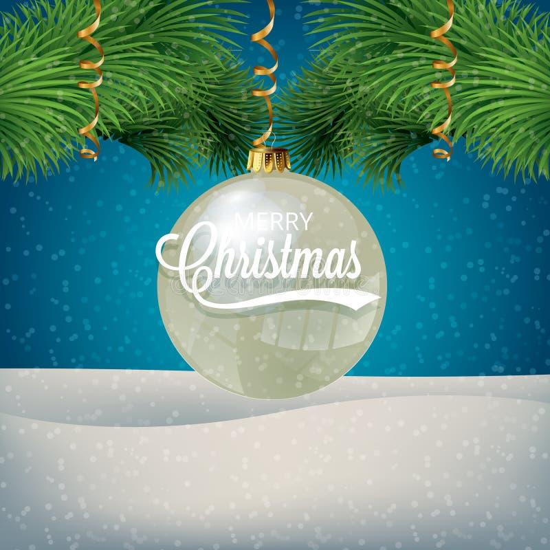 Ilustração do vetor do ano novo e do Natal ilustração do vetor