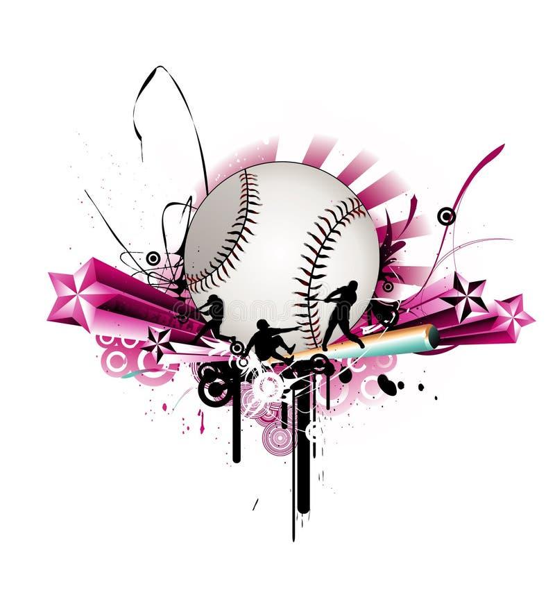 Ilustração do vetor do basebol ilustração stock