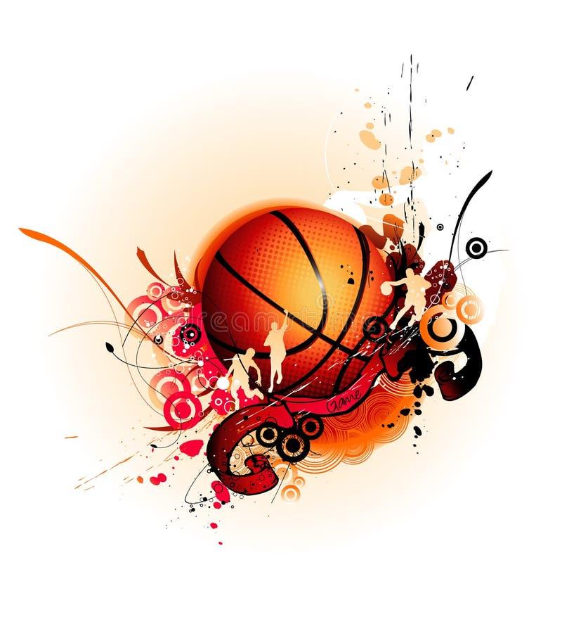 Ilustração do vetor do basquetebol ilustração stock