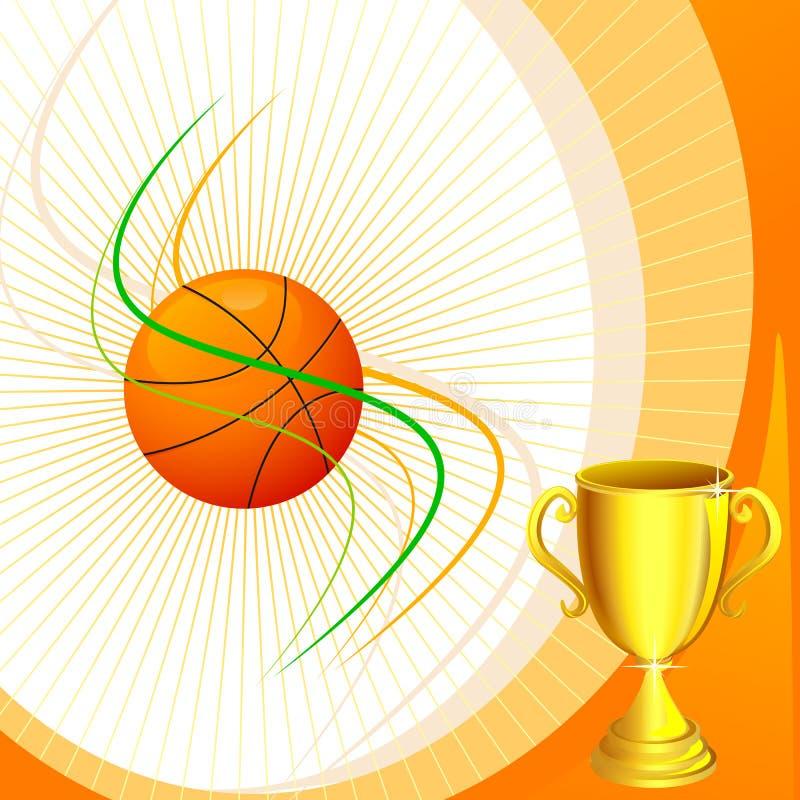 Basquetebol com troféu ilustração stock
