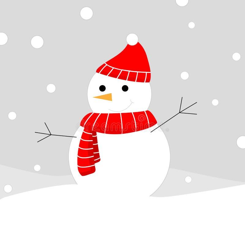 Ilustração do vetor do boneco de neve ilustração stock