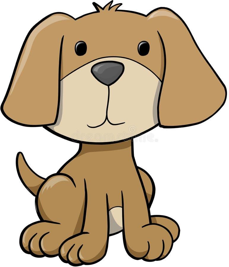 Ilustração do vetor do cão ilustração do vetor