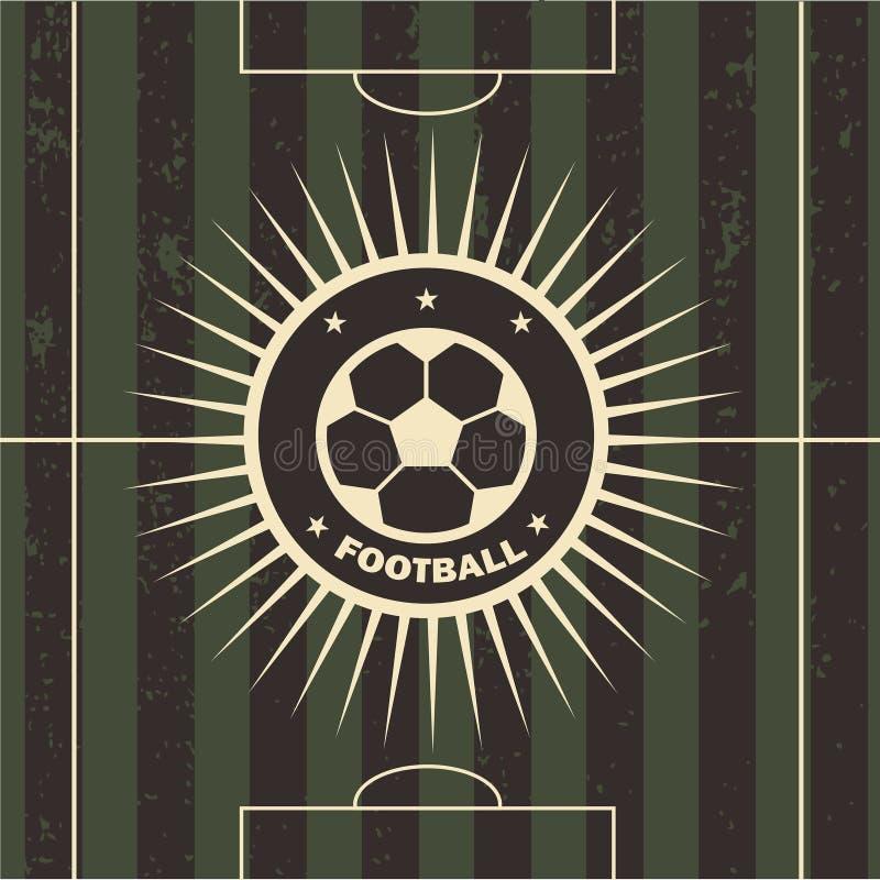 Ilustração do vetor do campo de futebol do emblema do futebol ilustração do vetor
