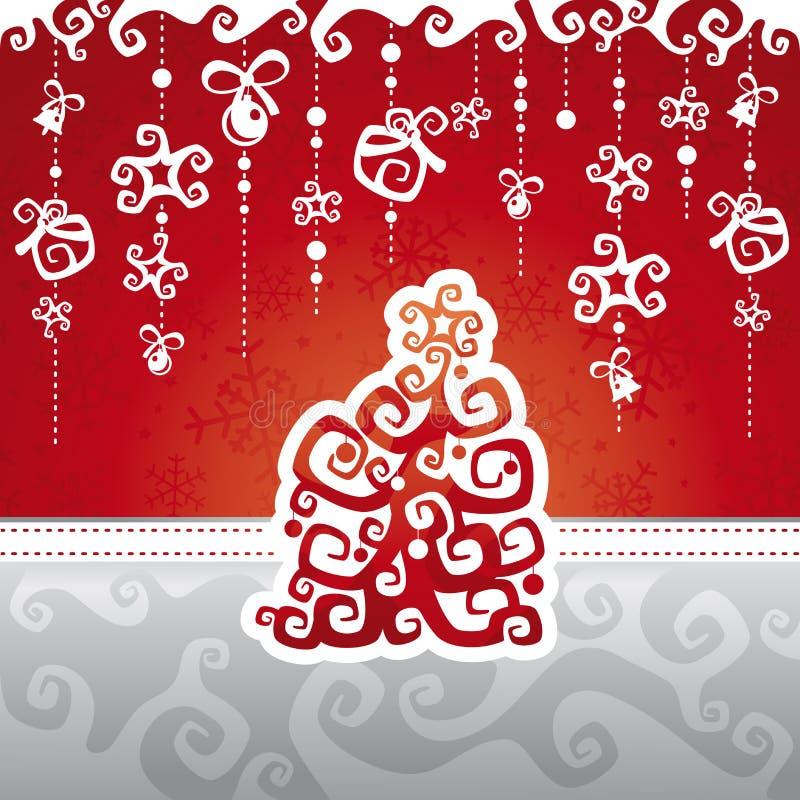 Ilustração do vetor do cartão de Natal ilustração do vetor