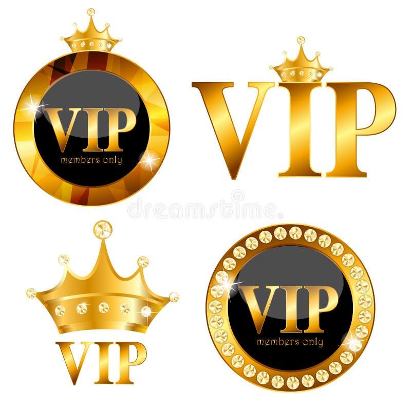 Ilustração do vetor do cartão dos membros do VIP ilustração stock