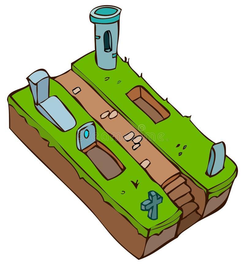 Ilustração do vetor do cemitério ilustração do vetor