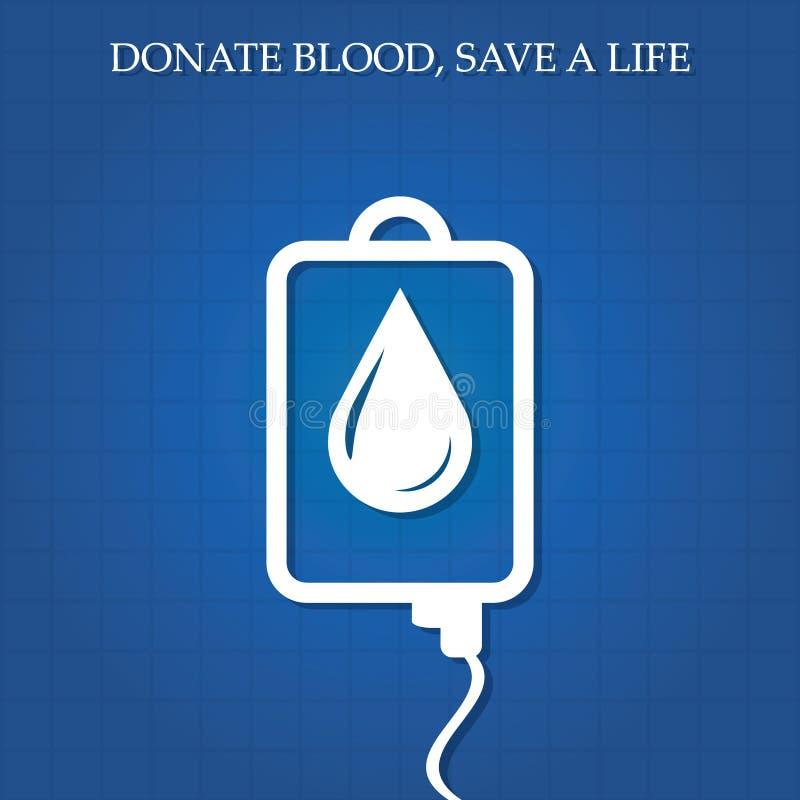 Ilustração do vetor do conceito da doação de sangue. ilustração stock