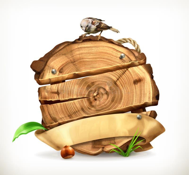 Ilustração do vetor do coto de árvore ilustração stock