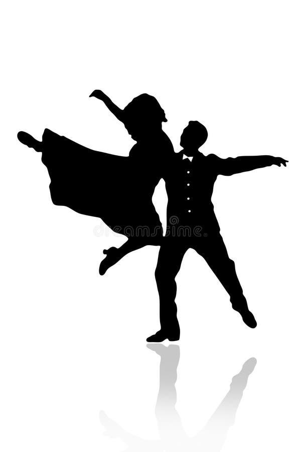 Ilustração do vetor do dançarino dos pares ilustração do vetor