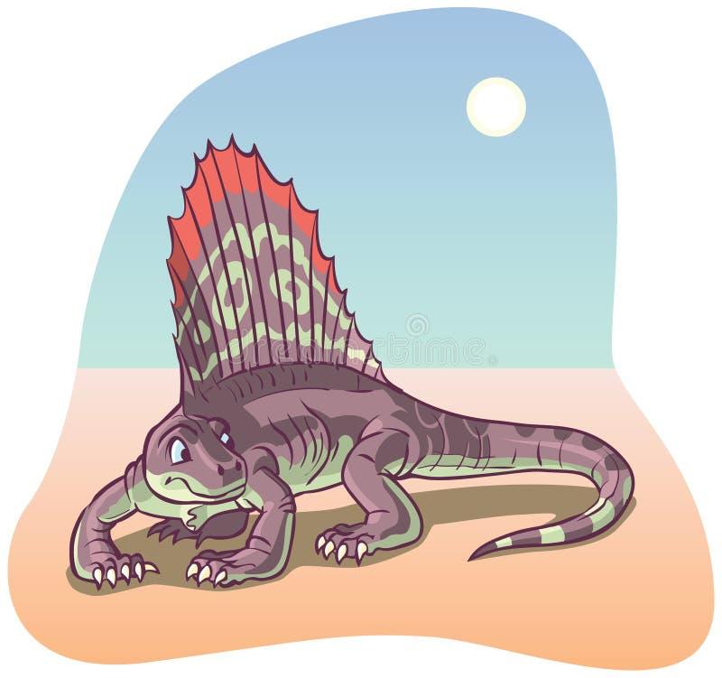 Ilustração do vetor do dinossauro de Dimetrodon ilustração do vetor