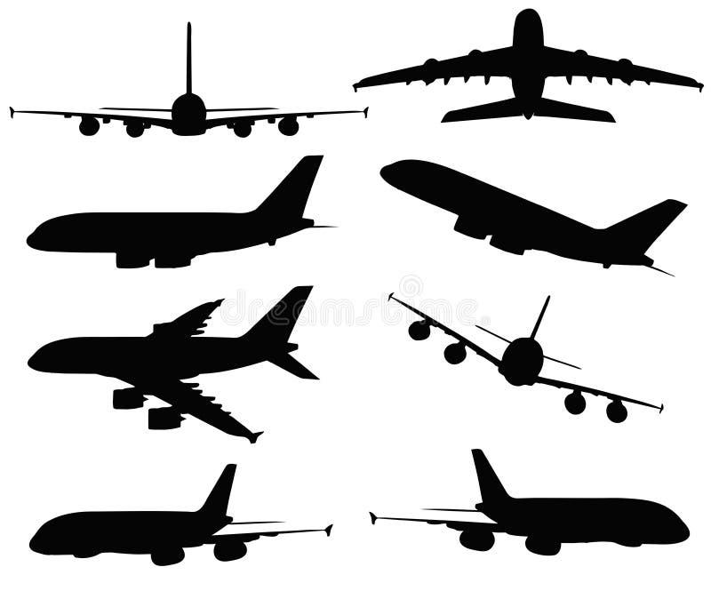 Ilustração do vetor do EPS 10 de A380 no fundo branco ilustração stock