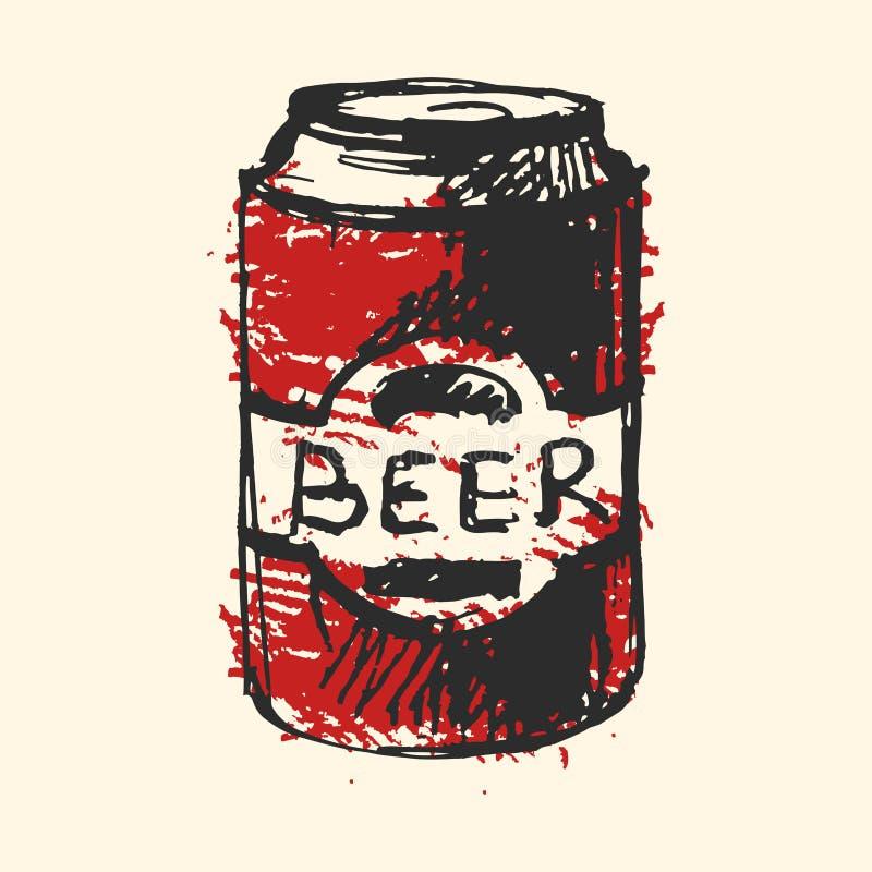 Ilustração do vetor do esboço do bar da garrafa de cerveja do ofício ilustração do vetor