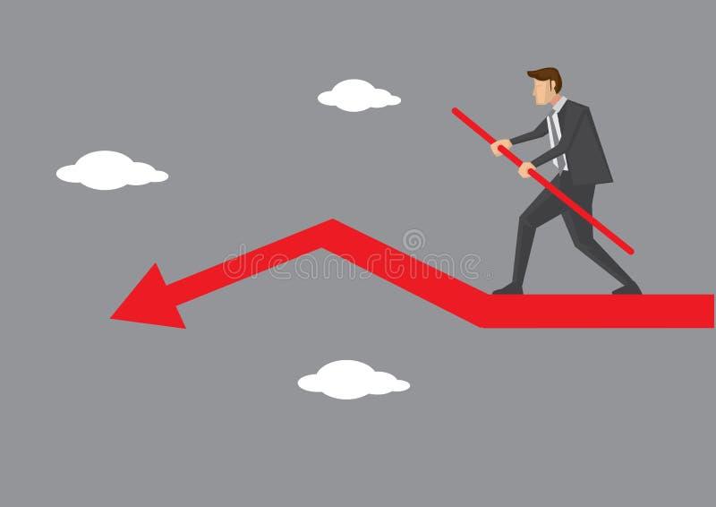 Ilustração do vetor do exercicio de equilibrio do negócio ilustração stock
