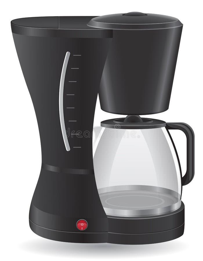 Ilustração do vetor do fabricante de café ilustração do vetor
