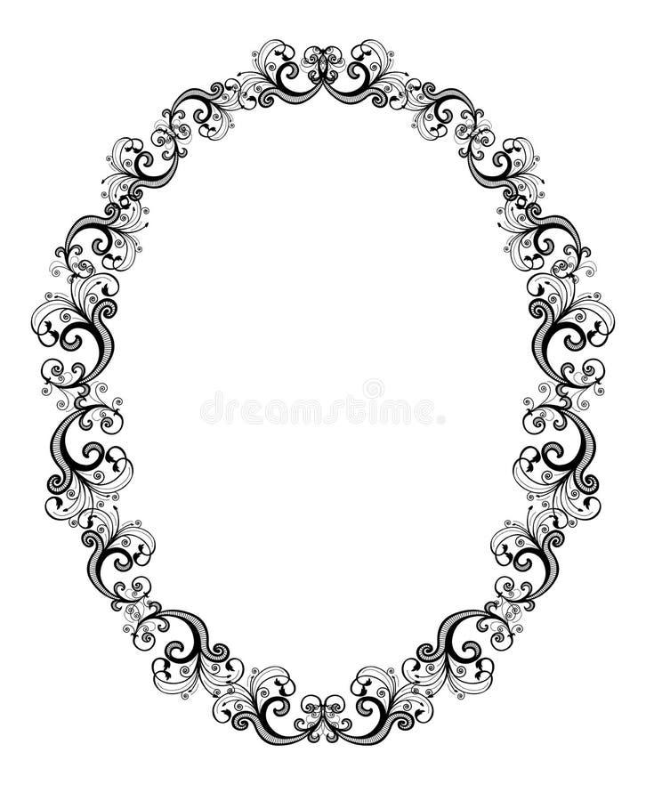 Ilustração do vetor do frame floral preto ilustração do vetor