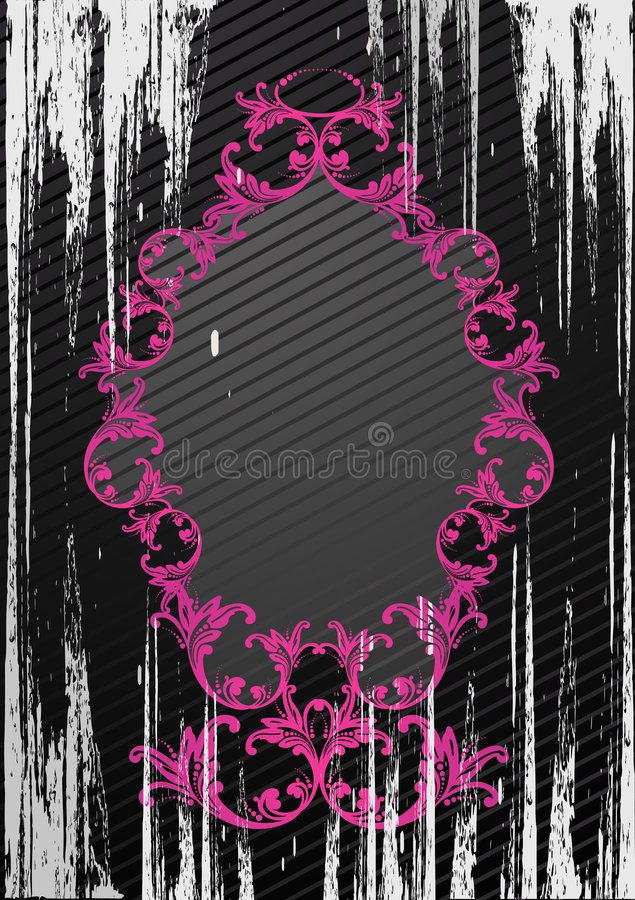 Ilustração do vetor do frame preto do grunge ilustração stock