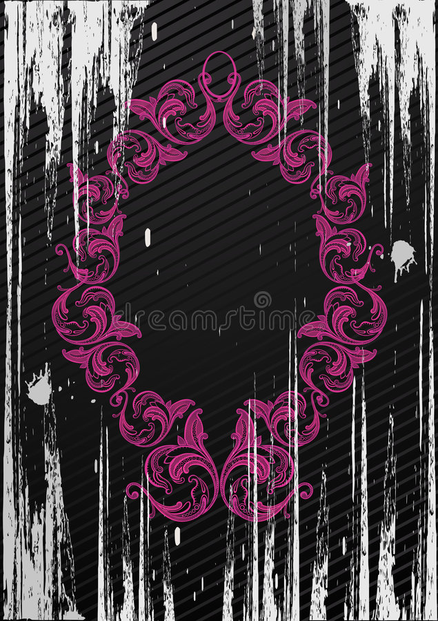 Ilustração do vetor do frame preto do grunge ilustração royalty free