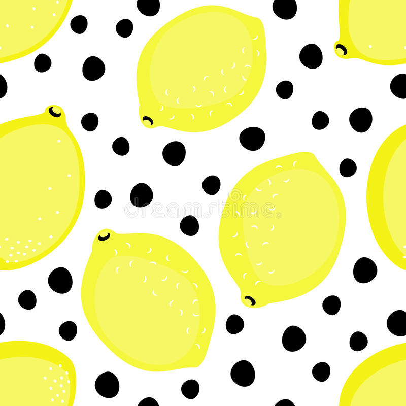 Ilustração do vetor do fruto do verão no fundo preto e branco dos pontos ilustração royalty free