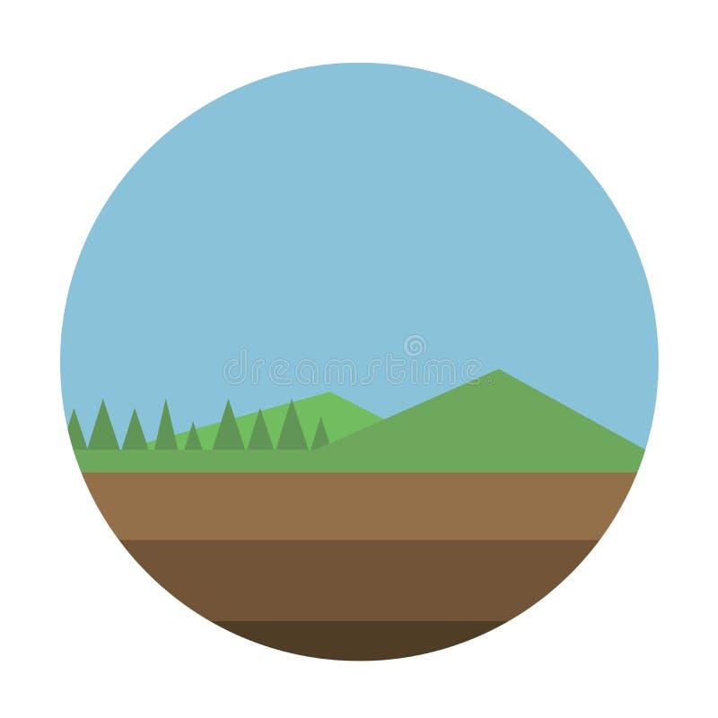 Ilustração do vetor do fundo da floresta ilustração do vetor