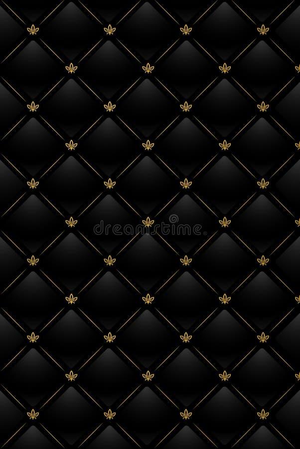 Ilustração do vetor do fundo de couro preto ilustração royalty free