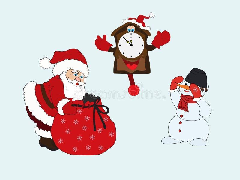 Ilustração do vetor do fundo do Natal ilustração royalty free