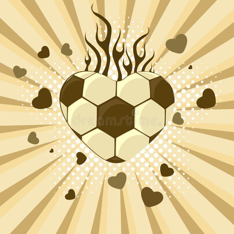 Ilustração do vetor do futebol. ilustração stock
