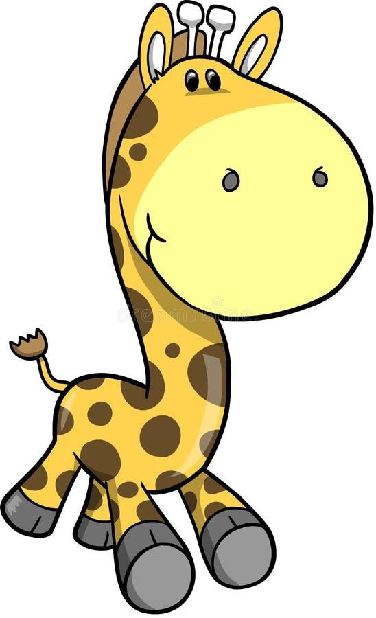 Ilustração do vetor do Giraffe do safari