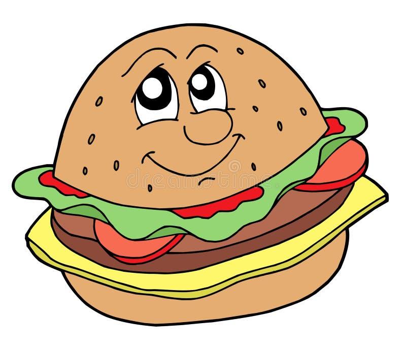 Ilustração do vetor do Hamburger ilustração stock
