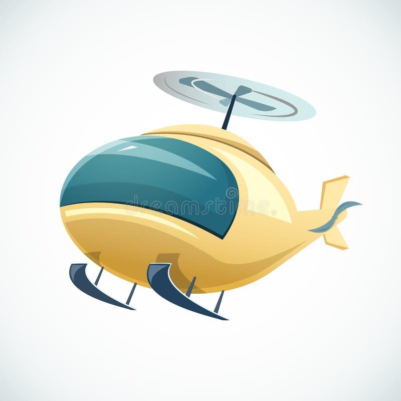 Ilustração do vetor do helicóptero ilustração royalty free