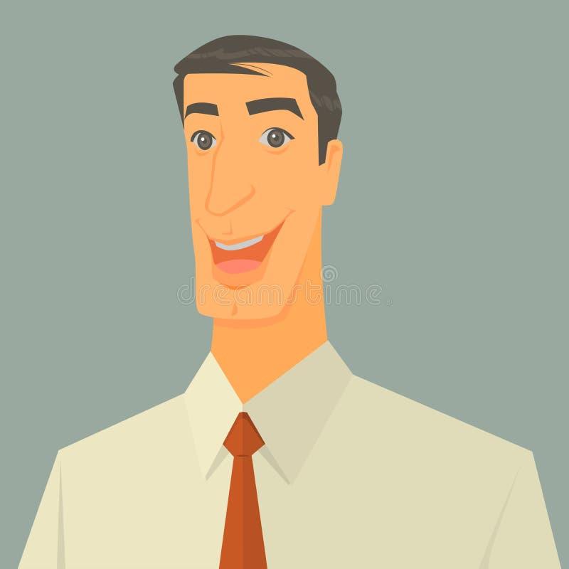 Ilustração do vetor do homem de negócios entusiasmado ilustração do vetor