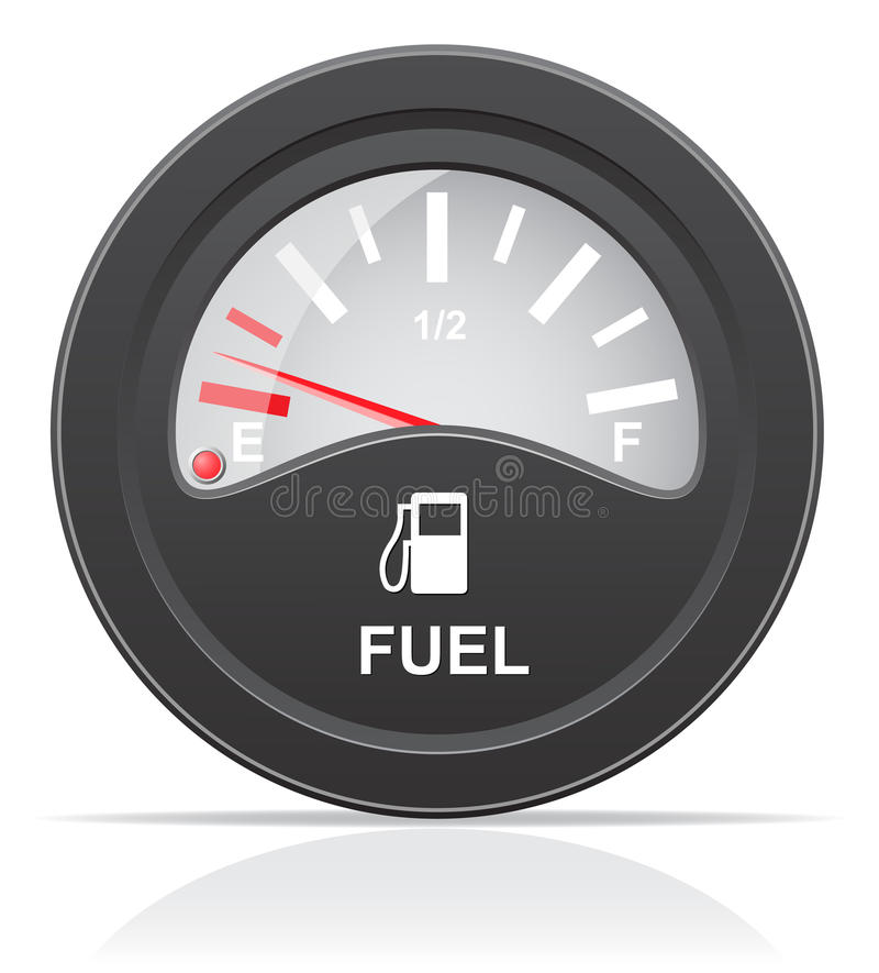 Ilustração do vetor do indicador de nível de combustível ilustração royalty free