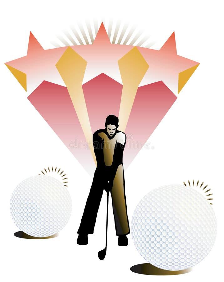 Ilustração do vetor do jogador de golfe. ilustração stock