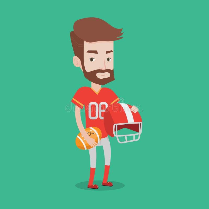Ilustração do vetor do jogador do rugby ilustração royalty free