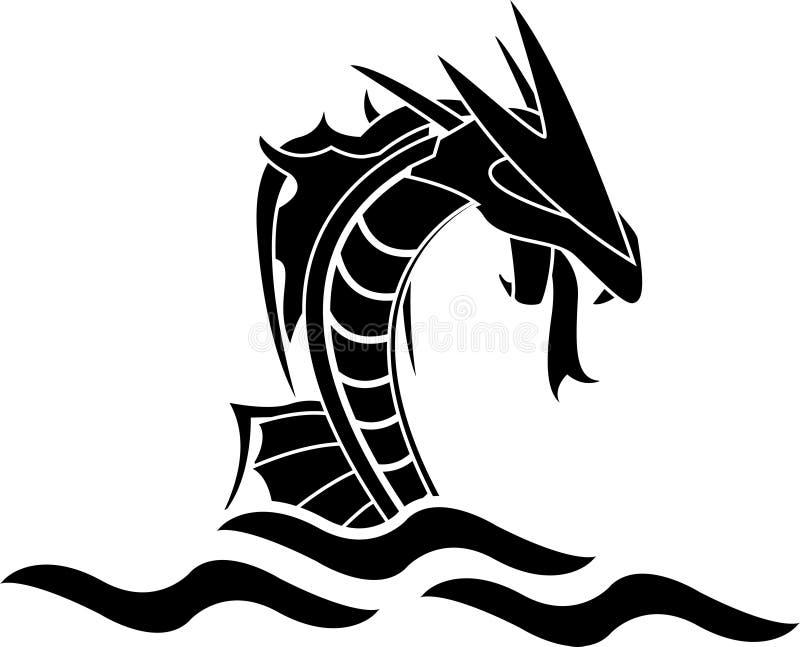 Monstro de mar ilustração royalty free