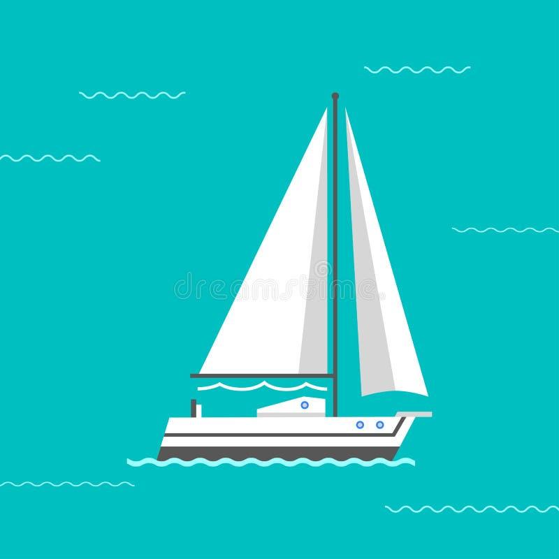 Ilustração do vetor do navio de navigação ilustração stock