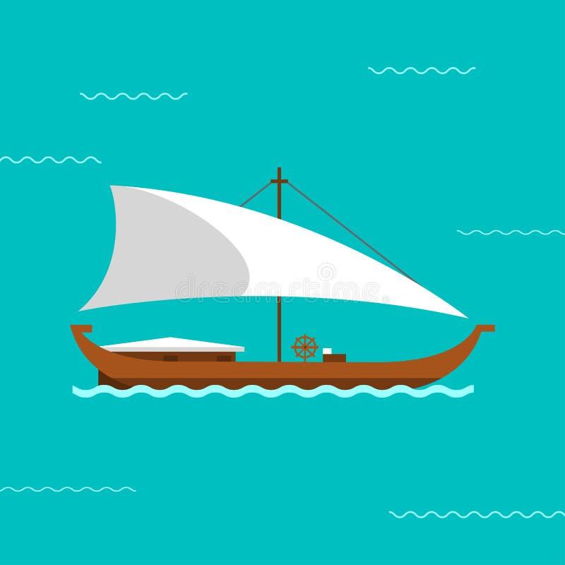 Ilustração do vetor do navio de navigação ilustração royalty free