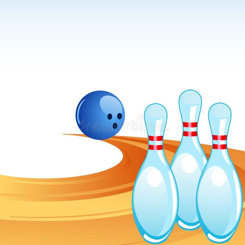 Pin de bowling na aléia ilustração stock