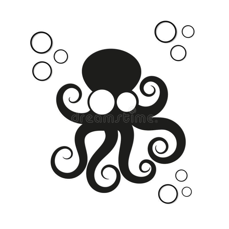 Ilustração do vetor do polvo do logotipo ilustração royalty free