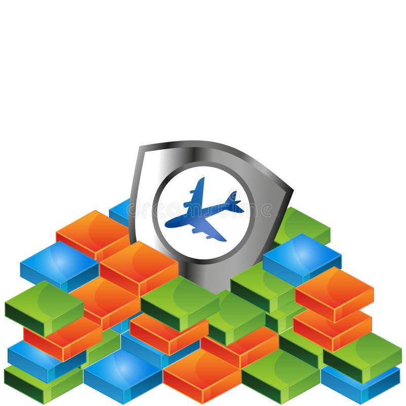 Ilustração do vetor do protetor do avião ilustração stock