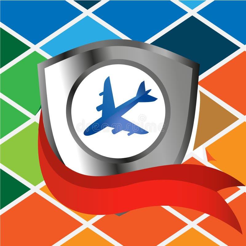 Ilustração do vetor do protetor do avião Ilustrador do vetor ilustração do vetor